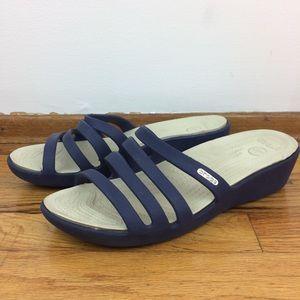 Crocs Strappy Sandals Navy Blue